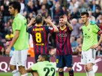经典-梅西戴帽加冕队史最佳 巴萨7-0屠杀奥萨苏纳