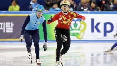 亚冬会短道速滑男子5000米接力 中国力压韩国霸气夺冠