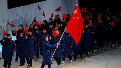 2017札幌亚冬会开幕式 中国队入场