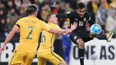 战报-尤里奇莱基建功 澳大利亚2-1险胜泰国