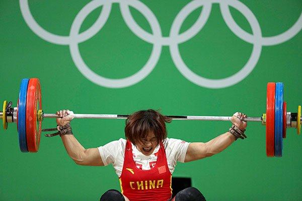 向艳梅女举69公斤级夺冠 中国获里约奥运第9金