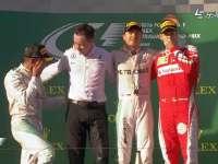 F1澳大利亚站正赛颁奖台:领奖台成老友聚会
