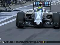 F1俄罗斯站正赛:马萨47圈进站换上超软
