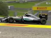 F1奥地利站正赛 罗斯伯格失误走大