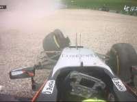 用绳命抢镜 F1奥地利站正赛 佩雷兹最后一圈撞墙
