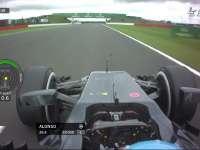 F1英国站FP1 阿隆索中性胎单圈慢6秒