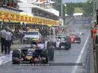 F1匈牙利站排位赛Q1:塞恩斯甩尾险撞安全车