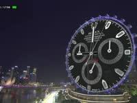 会玩!F1新加坡站排位赛:劳力士高科技虚拟钟抢镜