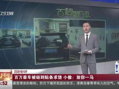 [视频]百万豪车被砸到贴条求饶 小偷:放你一马