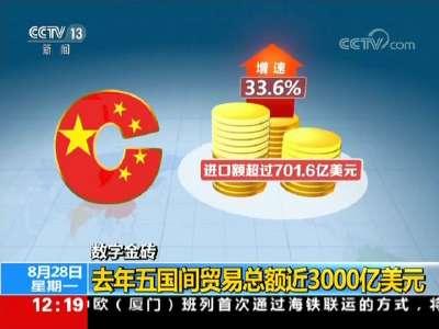 [视频]数字金砖:去年五国间贸易总额近3000亿美元