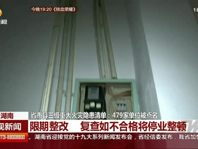 省市县三级重大火灾隐患清单:479家单位被点名