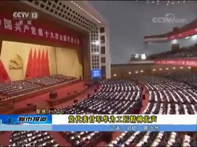 衡阳:党代表甘军华为工匠精神发声