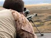 美军陆战队狙击枪射击训练