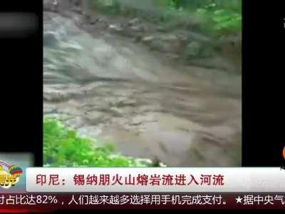 [视频]印尼:锡纳朋火山熔岩流进入河流