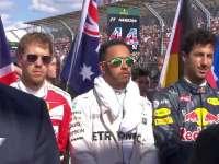 F1澳大利亚站正赛前奏国歌仪式:揭幕站一触即发