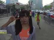 SNH48萌妹子挑战马拉松 大方合影兵哥哥
