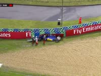第二次红旗!F1匈牙利站排位赛Q1:埃里克森撞车