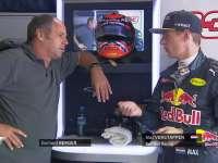 F1意大利站排位赛:杰哈德-伯格和小维斯塔潘聊天