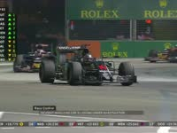 F1新加坡站正赛:奥康涉嫌安全车下超车被调查