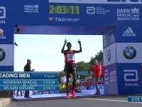 2016柏林马拉松贝克勒获男子第一名 基普桑第二