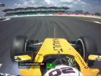 F1马来西亚站FP2:马格努森最后一弯刹车抱死