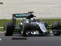 F1马来西亚站FP2 汉密尔顿右前胎锁死