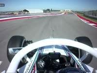 白色人字拖 F1美国站FP1:博塔斯装备白色HALO