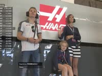 F1美国站FP1:费努奇在哈斯P房观战