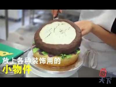 [视频]蛋糕汉堡傻傻分不清楚?国外牛人做出逼真汉堡蛋糕