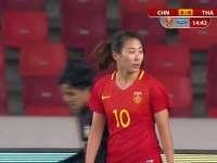 【片段】中国女足角球再造杀机 杨丽前点甩头攻门稍稍高出横梁