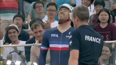 男子一公里计时赛 佩尔韦实力超群获得冠军