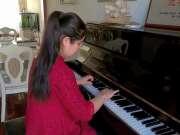美女用钢琴独奏经典老歌《上海滩》非常好听的一首经典老歌