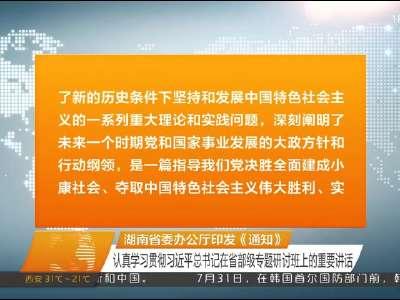 2017年08月01日湖南新闻联播