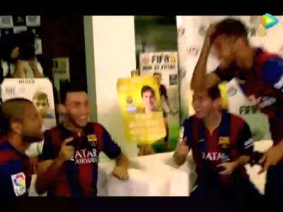 [视频]梅西曾如此挽留内马尔:你想要金球?我帮你