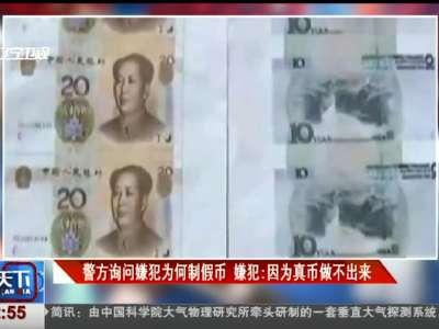 [视频]警方询问嫌犯为何制假币 嫌犯:因为真币做不出来