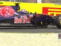 F1澳大利亚站一练 维斯塔潘六号弯打滑回放