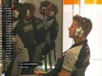 F1意大利站FP1 霍肯伯格P房抖腿观战悠然自得