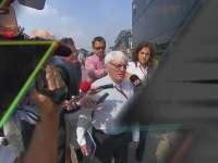 F1意大利站FP2 大佬伯尼被记者围追堵截