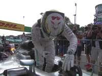 F1意大利站排位汉密尔顿疯狂庆祝 连续三年蒙扎杆位