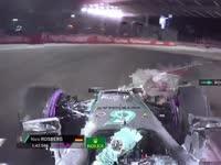 F1新加坡站排位赛:罗斯伯格拿下杆位TR庆祝