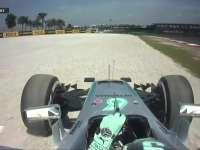 F1马来西亚站FP1:罗斯伯格冲出赛道引发黄旗