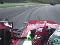 F1巴西站FP2:维特尔赛车底板有部件飞出