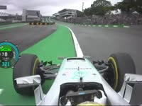 F1巴西站排位赛:汉密尔顿杆位圈回放