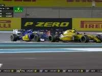 F1阿布扎比站正赛 帕默尔塞恩斯埃里克森三车乱斗