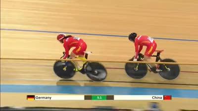 女子团体竞速赛铜牌争夺 中国队憾负德国队