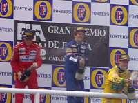 14个世界冠军头衔!1993年西班牙站三位传奇同台