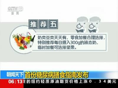 [视频]首份糖尿病膳食指南发布
