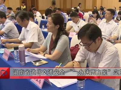 """湖南省道路交通安全 """"一办法两方案""""实施"""