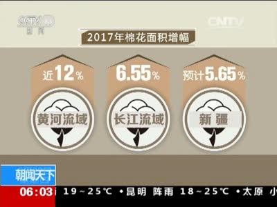 [视频]关注棉花种植面积回升:今年棉花种植面积同比增7%至10%