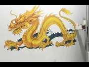 3D墙体彩绘机施工视频_华科恒润